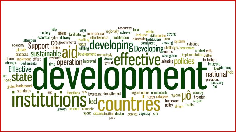 institutional development as a challenge to Development challenges agenda 2030 underscored the importance of a strengthened institutional framework for sustainable development at the national and regional levels that integrates the three dimensions of.
